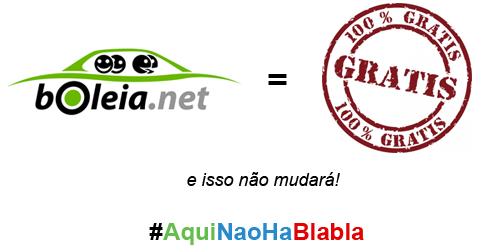 Boleia.net gratuito para todos