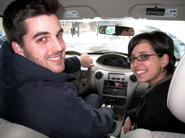 Pessoas que viajam juntos, a boleia