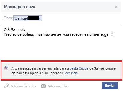 Problemas de contactos no Facebook com pessoas sem amigos em comum