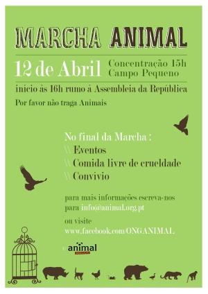 Boleias para a Marcha Animal em Lisboa